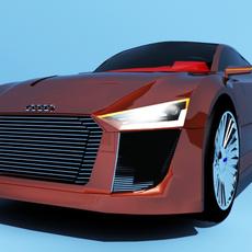 Audi Etron Spyder Concept 3D Model