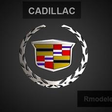 Cadillac 3d Logo 3D Model