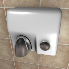 Hand-dryer 3D Model