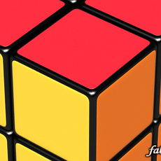 Rubik cube Std Mat 3D Model