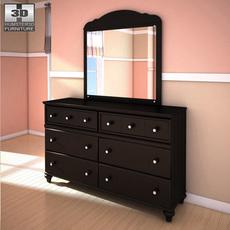 Ashley Jaidyn Dresser & Mirror 3D Model