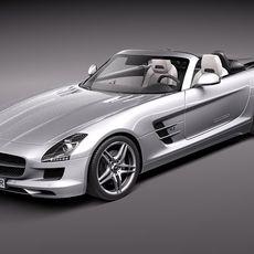 Mercedes SLS 2012 Convertible 3D Model