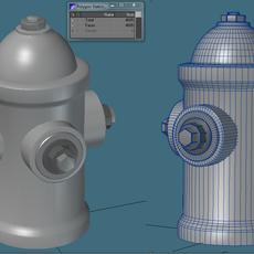Street Hydrant 3D Model
