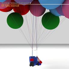 Cluster balloons 3D Model
