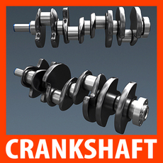 Engine Crankshaft 3D Model