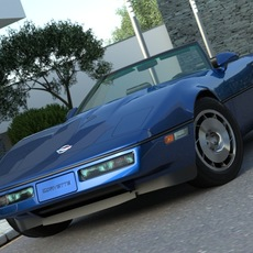 Chevrolet Corvette Convertible 1985 3D Model