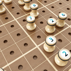 Wooden Sudoku Board Game 3D Model
