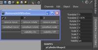 AddRemove transformation and visibility window for Maya 9.0.0 (maya script)