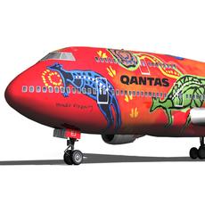 Boeing 747 - Qantas Wunala Dreaming 3D Model