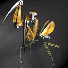 Praying Mantis Robot RIGGED 3D Model