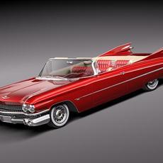 Cadillac Eldorado 62 series 1959 convertible midpoly 3D Model