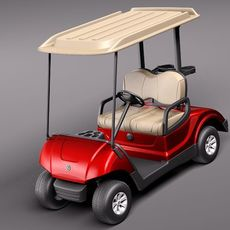 Yamaha Golf Car G29E 2011 3D Model