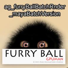 ag_furryBallBatchRnder_mayaBatchVersion for Maya 1.0.0 (maya script)