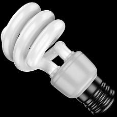 Compact Fluorescent Bulb 3D Model