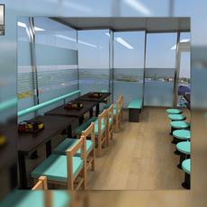 Fast Food Restaraunt Set 3D Model