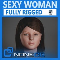 Adult Female Jessy Rigged 3D Model