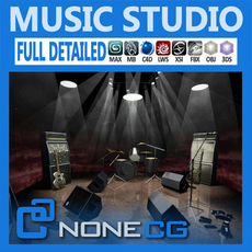 Pack - Music Studio 3D Model