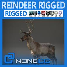 Rigged Reindeer 3D Model