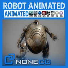 Animated Robot 3D Model