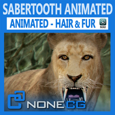 Animated SabreTooth 3D Model