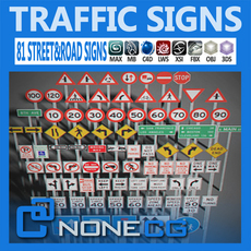 Pack - Traffic Signs 3D Model