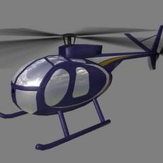 Hughes500 V5 3D Model