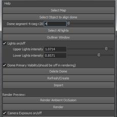 Fake Image Based Lighting (IBL) for Maya 1.0.3 (maya script)