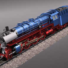 Steam Train Express F-series BR 03.10 1950 3D Model