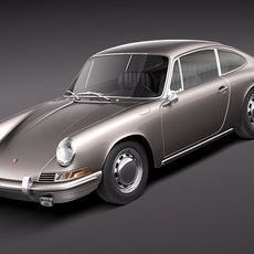 Porsche 901 coupe 1964 3D Model