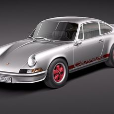 Porsche 911 Carrera RS 1973 3D Model