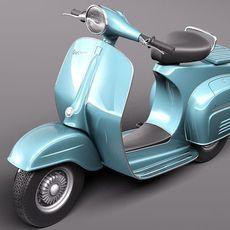 vespa 150 super 1965 3D Model