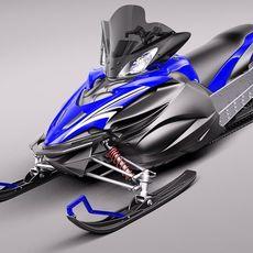 Yamaha Apex Snowmobile 2011 3D Model
