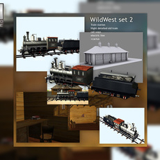 Wild West Set 3D Model