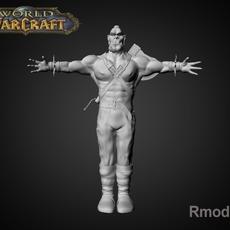 REd Ork Axe 3D Model