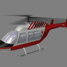 Jet Ranger V6 3D Model