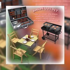 Barbeque Set 3D Model