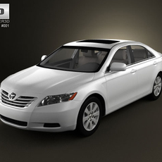 Toyota Camry with HQ Interior 3D Model
