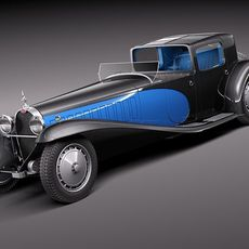 Bugatti type 41 Royale Coupe Napoleon 3D Model