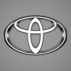 Toyota Logo 3D Model