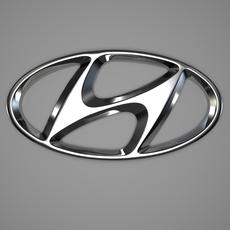 Hyundai Logo 3D Model