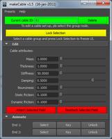 makeCable for Maya 1.5.0 (maya script)