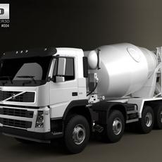 Volvo Truck 8x4 Mixer 3D Model