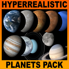 Hyperreal Solar System Pack - Cinema 4D 3D Model