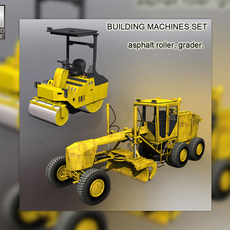 Building machines set 3D Model