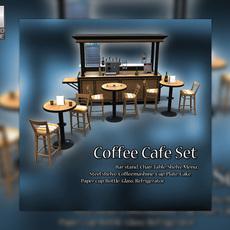 Bistro Coffee Shop Scene 3D Model