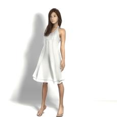 asian in dress 3D Model