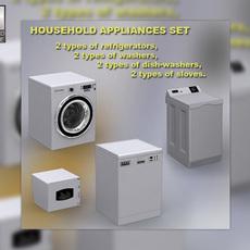 Household appliance set 3D Model