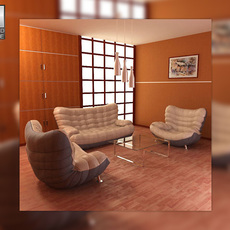 Living Room Set 5 3D Model