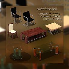 Furniture set 01 3D Model