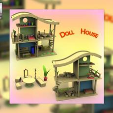 Toy Doll House Set 02s 3D Model